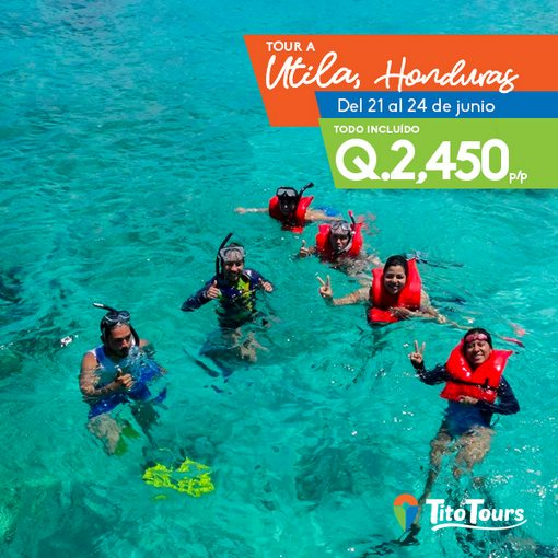 Tour a Utila, islas de la bahía en Honduras, TODO INCLUIDO