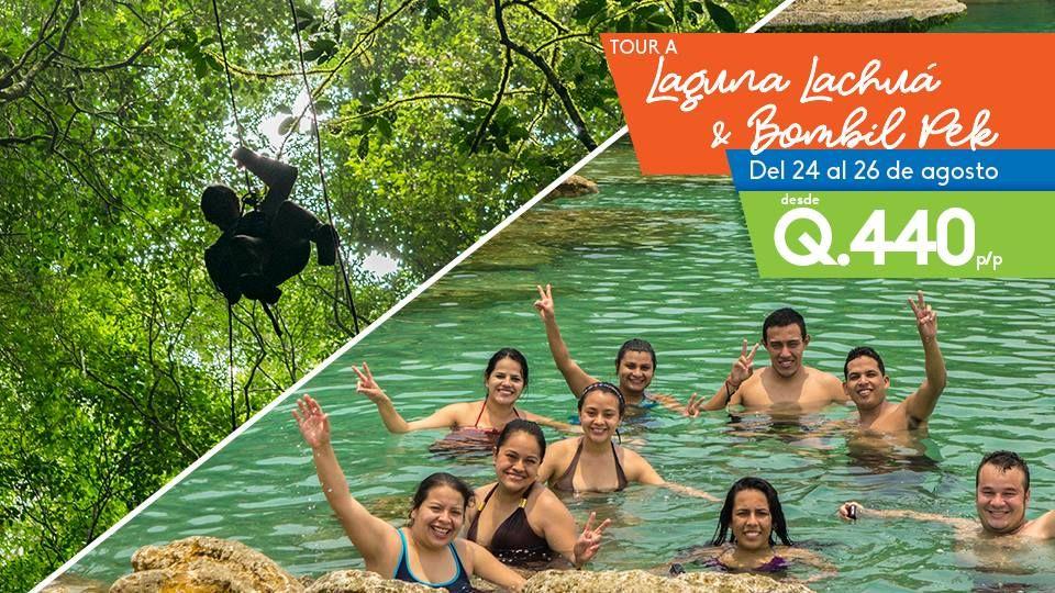 Tour a laguna Lachua, cuevas de Bombil Pek y Candelaria