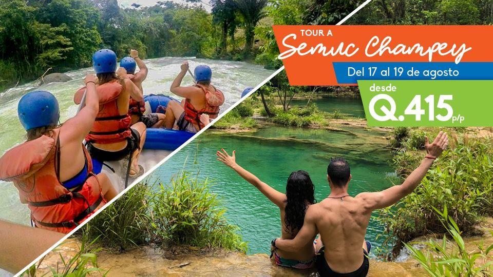 Viaje a Semuc Champey , Rafting y Cuevas de Kanba