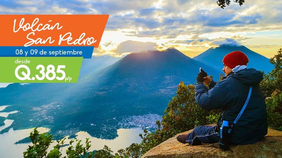 Ascenso al Volcán San Pedro y trampolín Tzankujil