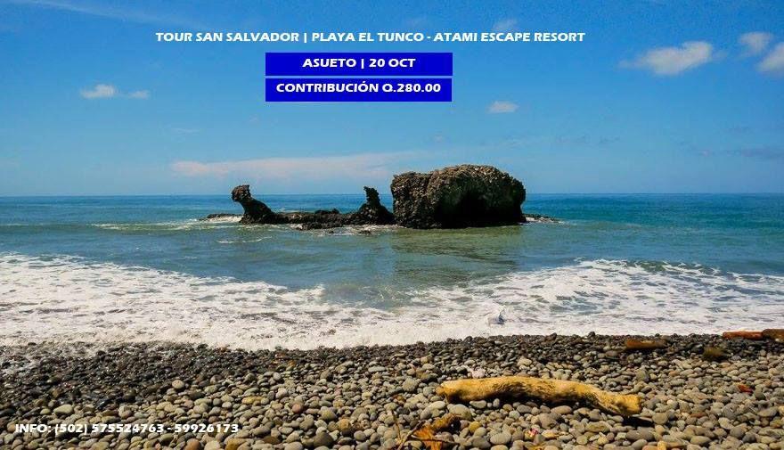 Tour El Salvador de un día | Playa el Tunco - ATAMI Escape Resort