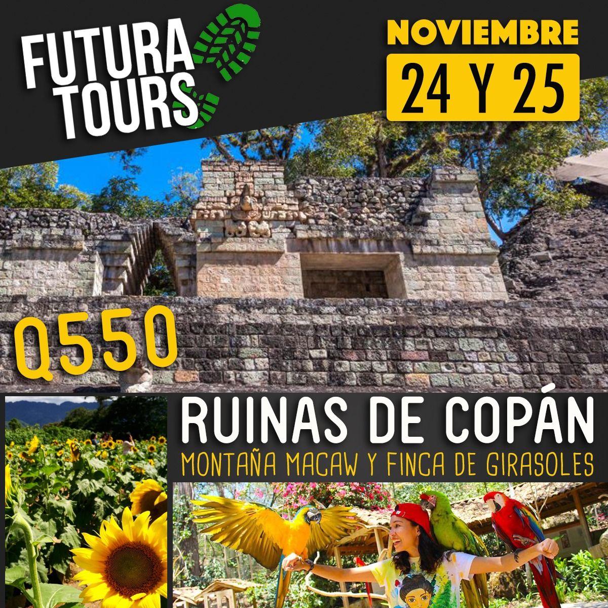 Copán Ruinas, Montaña Macaw y Finca de Girasoles en Esquipulas