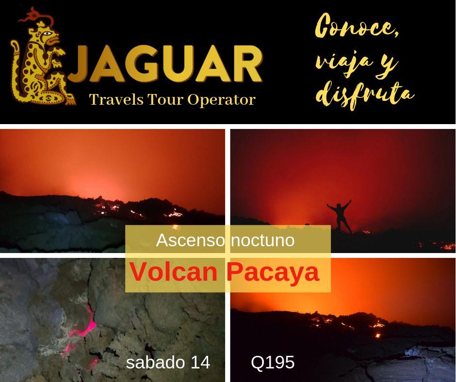 Rios de Lava en Volcan Pacaya nocturno