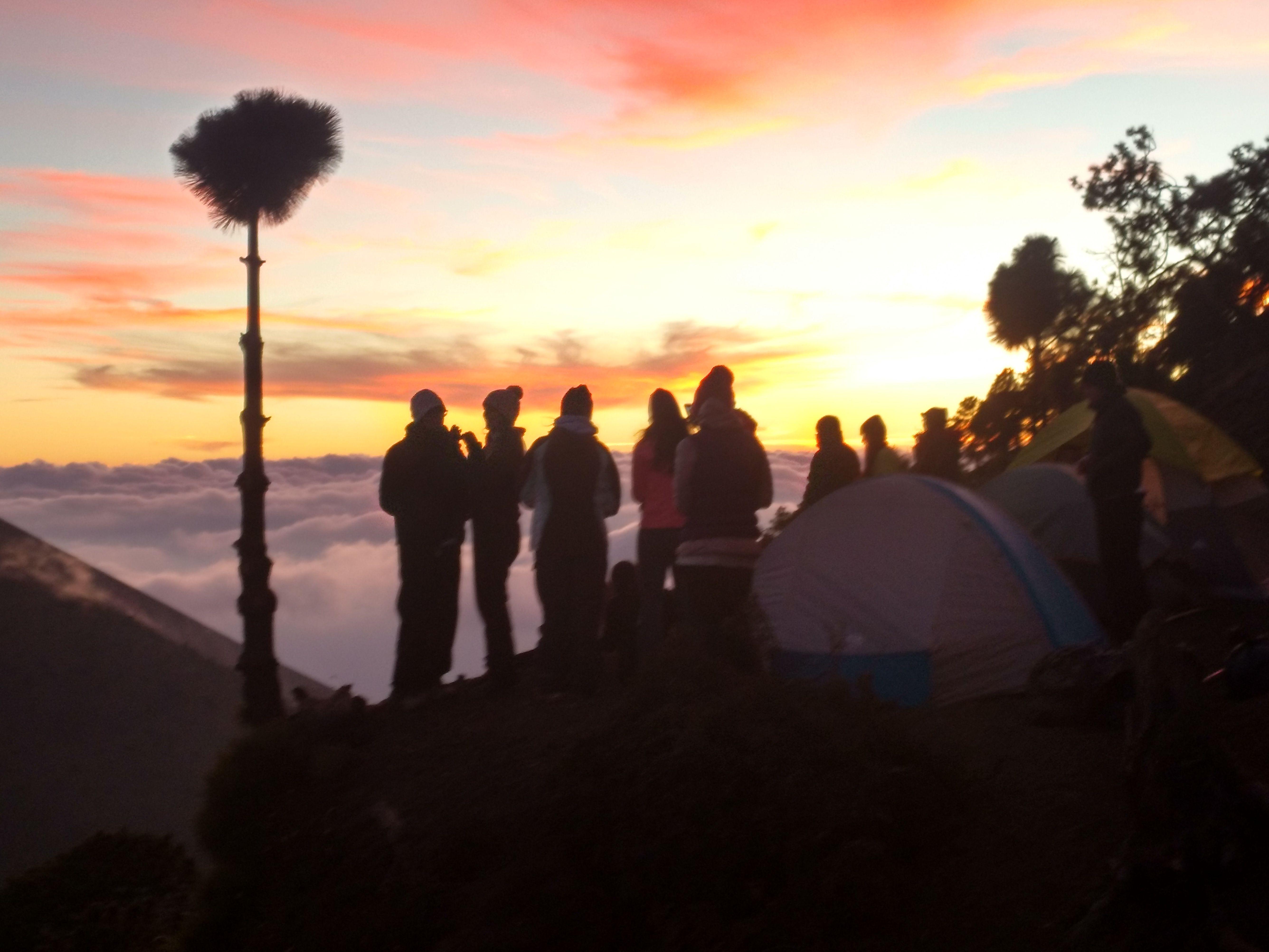 Campamento en el Volcán Acatenango